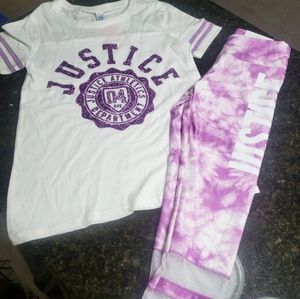 New Justice Purple Tie Dye Outfit